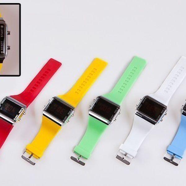 Silikonové digitální hodinky za 99 Kč