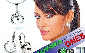Náušnice a náhrdelník s krystaly SWAROVSKI RIVOLI, na výběr z 10 odstínů, jen 299,-Kč, navíc možnost nákupu v HOTOVOSTI ještě dnes. Navštivte nás a užijte slevy ještě DNES.