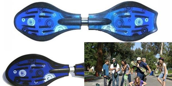 Jen 379 Kč! Sportovní novinka pro děti Wave Board s pouhými dvě kolečky za krásnou cenu ve výprodeji!