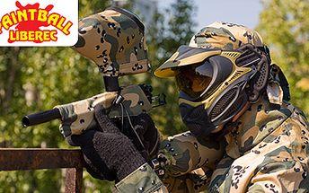 Paintball all inclusive! Užijte si dávku adrenalinu a vyzkoušejte své strategické schopnosti! Zbraň, kvalitní ochranná maska, rukavice, oblečení a 100 kuliček za 199 Kč!