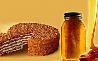 Medový dort potěší vaše chuťové buňky a to s 49% slevou! Zakupte si voucher z pouhých 29 Kč a vychutnejte si tuto staročeskou dobrotu za lahodnou cenu 150 Kč!