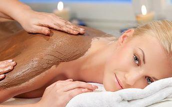 Čokoládová masáž a zábal! Parádní uvolnění svalů a nabuzení a vyhlazení pokožky!