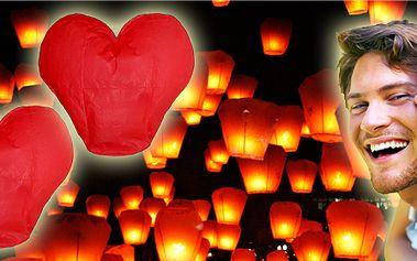4 kusy nádherných létajících lampiónů ve tvaru srdce!! Lampiony štěstí nesmí chybět při žádné pořádné oslavě!