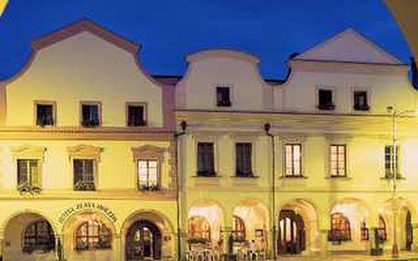Třídenní pobyt se dvěma procedurami pro každého v luxusním hotelu přímo v centru Třeboně s krásnou slevou 51%.