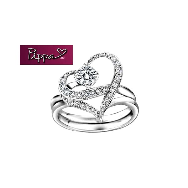"""Jen 189 kč za prsten """"dva v jednom"""" nebo přívěsek ve tvaru čtyřlístku! Rhodium osázené nádhernými krystaly swarovski, to sluší každé ženě!"""