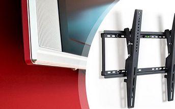 """NÁSTĚNNÝ DRŽÁK pro plazmové a LCD TV Nástěnný držák na zeď vhodný na všechny plazmové a LCD televizory o velikosti 26"""" - 55"""". Součástí je také integrovaná vodováha a montážní prvky. Maximální zatížení 75 kg."""