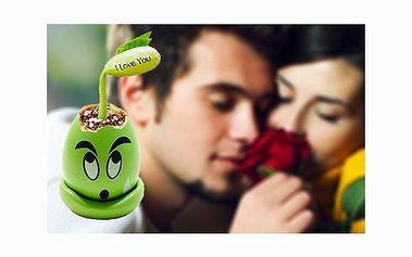 """Překvapte svého miláčka originálním dárkem se slevou 64%! Vajíčko lásky s fazolkou """"I Love You"""" nyní za pouhých 79 Kč! Vypěstujte si společně svou rostlinku lásky!"""
