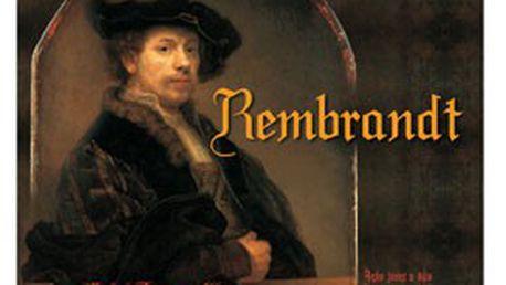 Jedinečná kniha REMBRANDT: výpravná publikace o nejuznávanějším malíři světa. 64 stran, množství ilustrací + 30 příloh s originálními faksimiliemi
