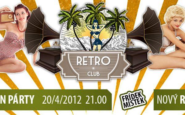 99 Kč za vstup na otevírací party Retro Clubu PRO DVA a 5 vodek + 2 dcl džusu. Největší hity od 60. let po současnost. Užijte si retro zábavu s 65% slevou!