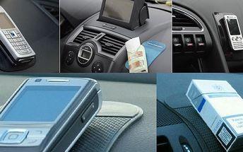 4x Protiskluzová NANO podložka za úžasných 99Kč. Vhodná na palubní desku k udržení např. mobilního telefonu, navigace, slunečních brýlí, apod.