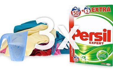 3x PRACÍ PRÁŠEK PERSIL Expert Regular: vystačí na 165 praní 3 balení PERSIL Expert Regular, z nichž každé obsahuje 55 pracích dávek. Koncentrovaný prací prášek na bílé i barevné prádlo s technologií Cold Active. Osobní odběr v Praze.