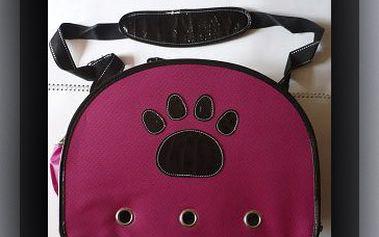 OVÁLNÁ KABELKA NA PSY (38 x 23 x 28 cm) za fantastických 449 Kč! Velmi módní kabelka vyrobena z kvalitního materiálu. I Váš psí miláček chce cestovat v pohodlí. Sleva 56 %!