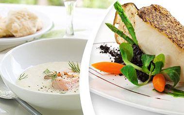 3chodové ITALSKÉ menu - jedinečný gurmánský zážitek pro DVA Rybí polévka, grilovaný mořský vlk, zelenina, italský domácí krémový dezert s expressem či šálkem lahodného čaje. Jedinečný gurmánský zážitek v krásném prostředí.