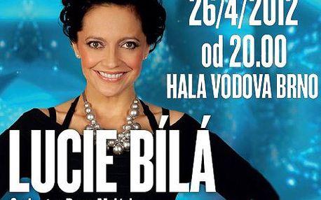 Galakoncert Lucie Bílé s 41% slevou! V doprovodu skupiny Petra Maláska, 26.dubna v brněnské Hale Vodova!
