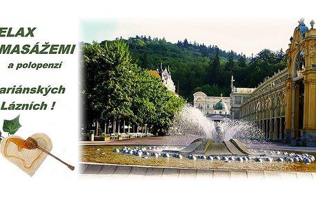 Ideální pobyt s polopenzí a masážemi v Mariánských Lázních pro všechny, kteří chtějí jen tak relaxovat v překrásném městě uprostřed zeleně s polopenzí a masážemi!