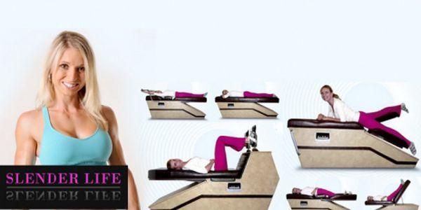 """Cvičení na šesti rekondičních stolech, které """"cvičí za vás"""" a k tomu 10 min. vibrosystém za neuvěřitelných 85 Kč! Posilujte a formujte svoji postavu se slevou 50%!"""