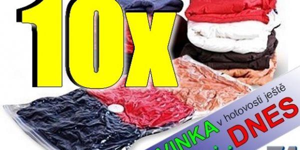 Oblíbená nabídka, 10x vacuum bags na uskladnění prádla, chrání před vlhkostí, pachem atd., nyní jen za 299,-Kč, navíc možnost nákupu v HOTOVOSTI ještě dnes. Navštivte nás a užijte slevy ještě DNES.