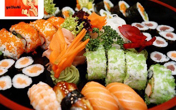 Obrovský SUSHI SET až pro 3 osoby se 44 kousky Sushi a polévkou Miso!