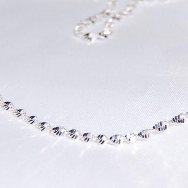 Elegantní doplněk k šatům - malý točitý náhrdelník potažený kvalitním stříbrem v délce 50 cm za pouhých 59 Kč!
