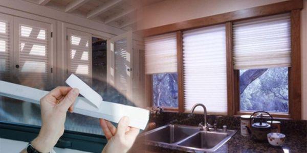Samonalepovací papírové okenní žaluzie od amerického výrobce Redi Shade, Inc. Vás za pouhých 89 Kč ochrání před slunečními paprsky a zvědavými sousedy!