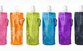 47 Kč za skládací láhev EKO Vapur! Neváhejte a pořiďte si tuto oblíbenou láhev i Vy! Je skládací, zmrazovací, připínací a na více použití :-)