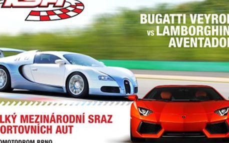 SRAZ SPORTOVNÍCH VOZŮ s možností projet se v jednom z nich Mezinárodní sraz sportovních vozů- obdivujte Bugatti Veyron, Koenigsegg Agera, Lamborghini Aventador a další. Navíc 10 diváků bude mít možnost si je vyzkoušet na vlastní kůži.