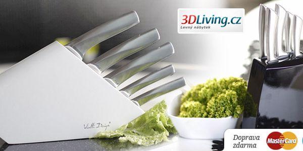1138 Kč za sadu kuchyňských nožů Vialli. Včetně brousku, stojánku a poštovného. Moderní design a ostré nože se slevou 43 %.