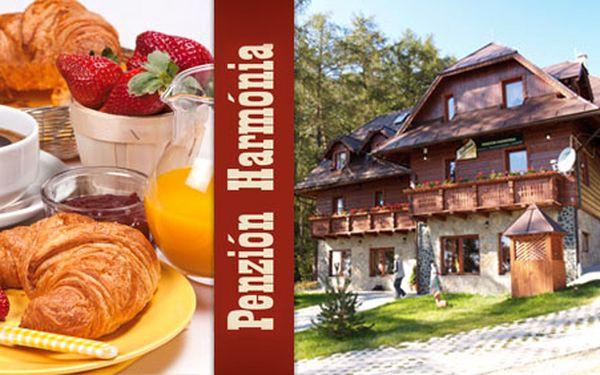 Na okraji lesa v Tatranské přírodě, čeká na vás 3 denní pobyt pro 2 osoby se snídaní jen za 1000 Kč! Ciťte se v Penzionu HARMONIE jako doma s HyperSlevou 56 %!