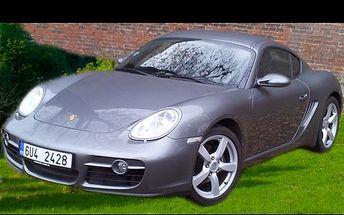 Porsche Cayman na 1 den! Projeďte se luxusním vozem Českou republiku křížem krážem. Havarijní pojištění v ceně!