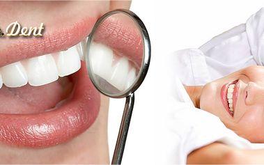 Dentální hygiena od lékaře včetně Air Flow! Odstranění zubního kamene a plaku včetně vybělení skvrn a instruktáže správné péče!