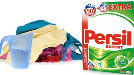 PRACÍ PRÁŠEK PERSIL Expert Regular: vystačí na 55 praní Balení PERSIL Expert Regular obsahující 55 pracích dávek. Koncentrovaný prací prášek na bílé i barevné prádlo s technologií Cold Active. Osobní odběr v Praze.