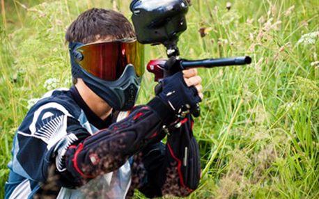 PAINTBALL na letišti s vybavením + 100 kuliček Paintball na otevřeném bojišti v areálu letiště. V ceně služby organizátora, zapůjčení zbraně a vzduchové lahve, ochranná maska, rukavice a 100 kuliček.