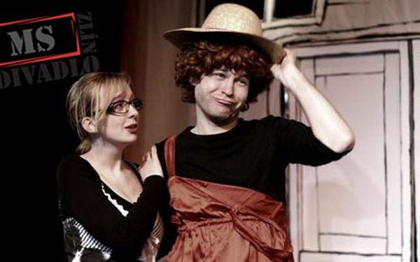 """1+1 vstupenka na divadelní představení Malé scény Zlín """"Tři v tom"""" jen za 100 Kč díky HyperSlevě 50 % a poznejte, že máj, lásky čas může mít i trvalé následky :-)"""
