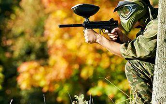 PAINTBALLOVÁ BITVA s vybavením, 200ks kuliček a nafocením Vstup a paintballová bitva pro jednu osobu na paintballové hřiště, zbraň a kompletní vybavení, 200 kuliček, instruktáž, zaškolení a nafocení celé akce.