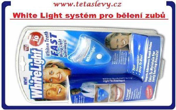 White light vám zajistí zářivé zuby-vybělí v pohodlí domova za cenu 150kč poštovné v akci je zdarma