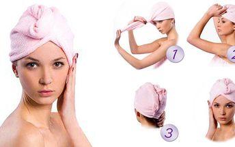 39,- Kč za magický ručník! Přestaňte se trápit s balením mokrých vlasů do těžkých osušek! Sleva 70%!