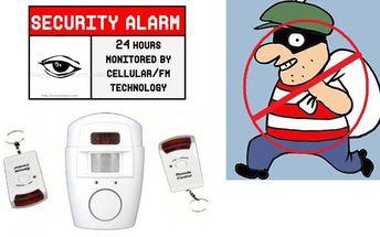 Brutální sleva -87%!!! POZOR! Pouze 179 Kč za alarm s detektorem pohybu! Zabezpečte levně, ale přesto kvalitně svůj dům, byt či