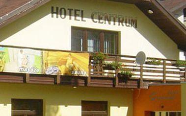 Víkend v Harrachově: 3denní relaxační pobyt pro 2 osoby s polopenzí v ***hotelu Centrum v Krkonoších. SAUNA, MASÁŽE, WELLNESS a welcome drink