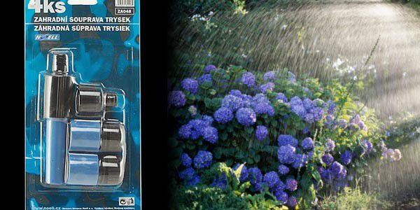 Zavlažujte své květiny a trávník snadněji díky praktickým zahradním tryskám