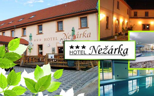 Týdenní relaxační pobyt s polopenzí pro dvě osoby v Hotelu Nežárka s návštěvou wellness centra lázní Aurora Třeboň.
