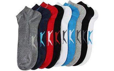 KOTNÍKOVÉ PONOŽKY Slazenger: 5 párů v různých barvách Sada 5 párů kotníkových ponožek Slazenger v různých barevných provedeních. Dostupné velikosti 40-47 (7-11 UK), materiál - převážně bavlna (72 %).