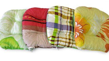 4 ks pohodlných prošívaných PODSEDÁKŮ - různé vzory Sada 4 ks pohodlných prošívaných podsedáků. Vrchní materiál 100% bavlna, výplň drcený molitan a duté vlákno. Zpříjemněte si sezení doma či na zahradě. Více vzorů.