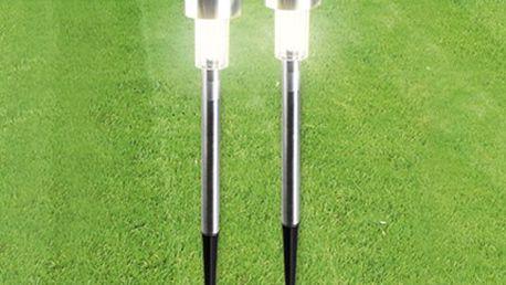 SOLÁRNÍ LED LAMPA: až 100.000 hodin světla zdarma Energeticky efektivní a finančně nenáročná solární LED lampa z nerez oceli. Ideální osvětlení zahrad, příjezdových cest nebo bazénů. LED diody vydrží až 100.000 hodin