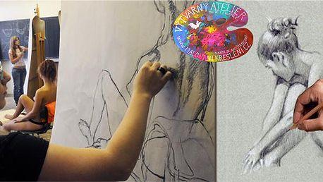 Večerní kurz figurální kresby (120 minut) v uměleckém atelieru pod vedením akademických malířů! Splňte si svůj sen!