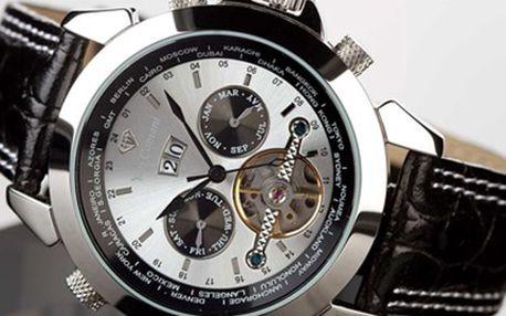 Exkluzivní HODINKY značky Yves Camani včetně poštovného Model analogových hodinek Navigator Worldtimer Automatik je vyrobený z oceli a kůže. Hodinky mají minerální sklíčko a jsou voděodolné. Dopřejte si vysokou kvalitu.