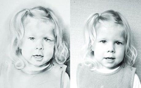 Fantastických 569 Kč za portrét hlavy (35x25 cm) provedený kresbou uhlem nebo rudkou na papír! Věnujte originální dárek nebo udělejte radost sami sobě a nechte si portrétovat děti, rodiče, babičky, vaše blízké či zhotovit portrét podle svatební fotografie. Umělecký portrét je trvalou vzpomínkou, která má své čestné místo v interiéru domova a neztrácí esprit po celé generace. Sleva 44 %!
