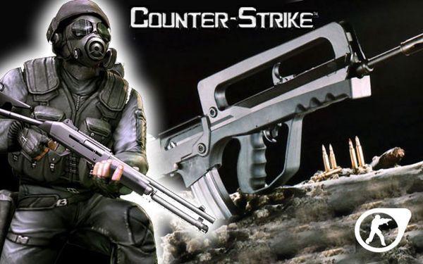 Střílení ze 6 druhů zbraní a 40 nábojů přesně jako v legendární hře Counter Strike.