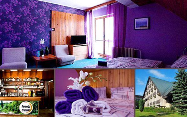 Třídenní pobyt pro 2 osoby v krásné části Krkonoš v hotelu Friends s polopenzí saunou a sektem za 1190 Kč. Cena zahrnuje ubytování na 2 noci pro 2 osoby, denně snídaně a večeře, relaxace v sauně, láhev sektu, kulturní program. Platnost až do konce listopadu!