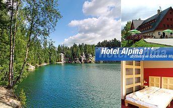 2 450 Kč za 3 dny pro 2 osoby ve Špindlerově Mlýně s polopenzí, saunou, fitness, fotbálkem, kulečníkem a 20% slevou do mexické restaurace. Nádherná příroda Krkonoš, výlety a sportovní vyžití s Hotelem Alpina!