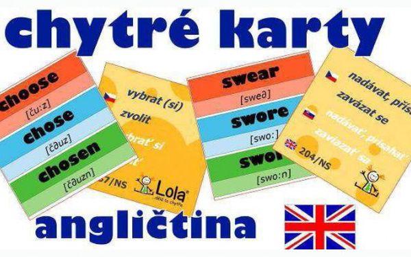 Chytrá Lola Vám přináší výukové karty angličtiny! Pomohou Vám s výukou nepravidelných sloves, frázových sloves i časů! Cena již od 39 ti Kč! Sleva až 51%!